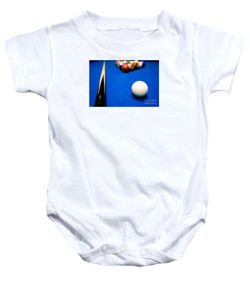 8 Ball Pool Table Baby Onesie