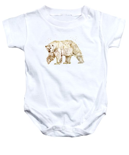 Polar Bear Watercolor Baby Onesie