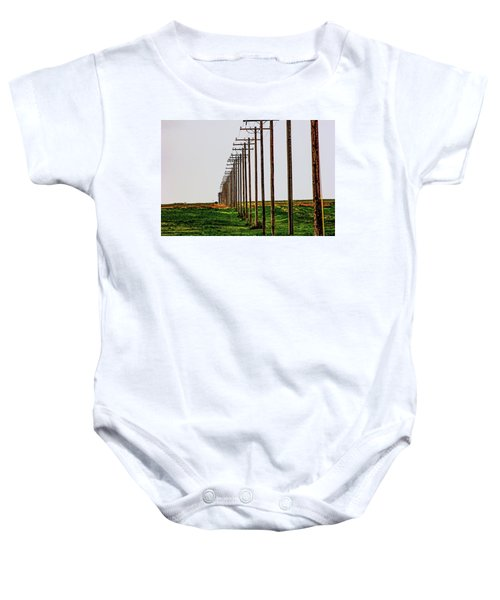 Poles In A Row Baby Onesie