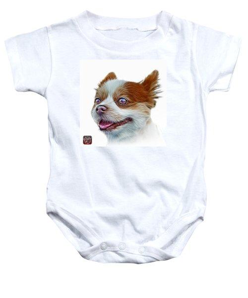 Pomeranian Dog Art 4584 - Wb Baby Onesie