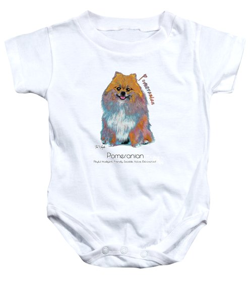 Pomeranian Pop Art Baby Onesie