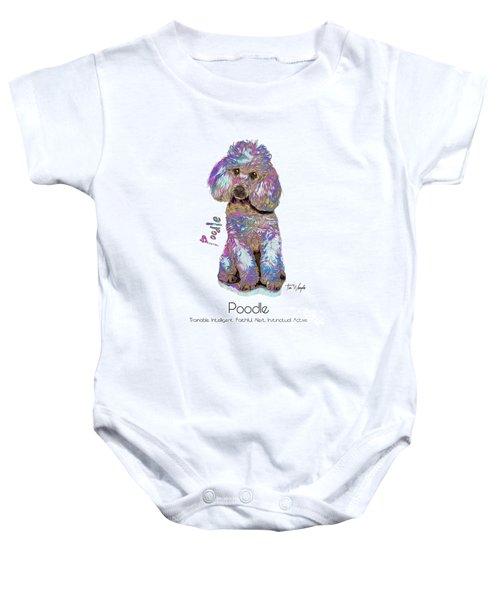 Poodle Pop Art Baby Onesie