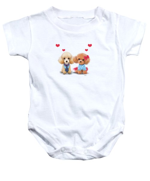 Poodles Are Love Baby Onesie