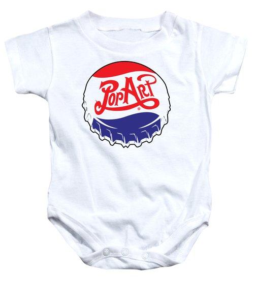Pop Art Bottle Cap Baby Onesie