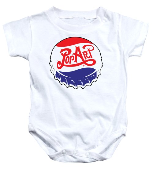 Pop Art Bottle Cap Baby Onesie