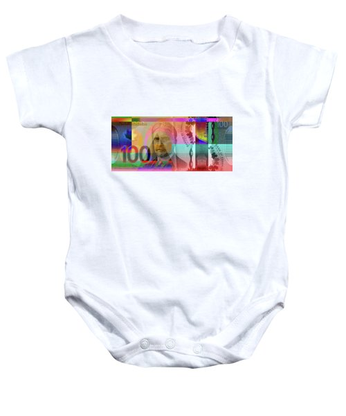 Pop-art Colorized New One Hundred Canadian Dollar Bill Baby Onesie