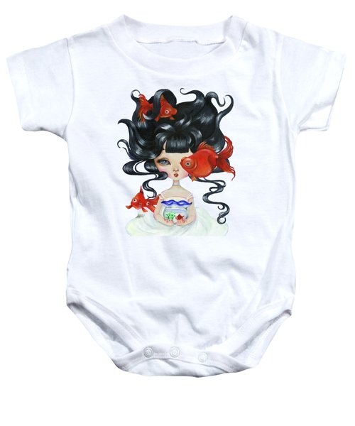 Pop-eyed Goldfish Baby Onesie