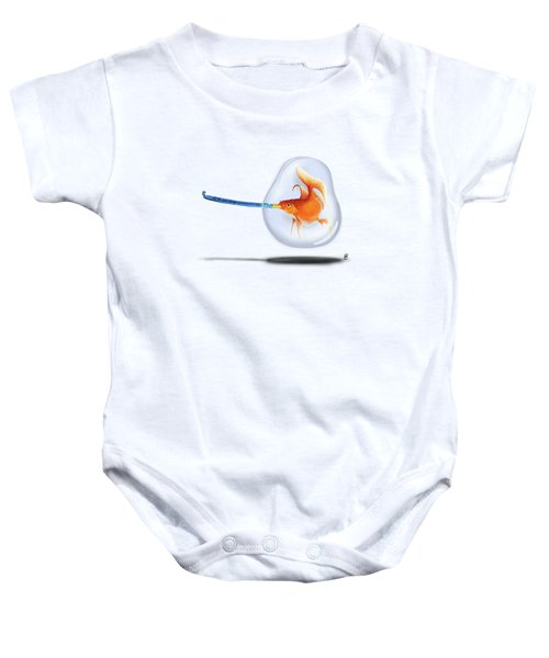 Popper Colour Baby Onesie by Rob Snow
