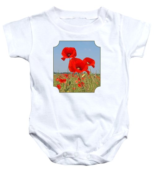 Poppy Fields 4 Baby Onesie
