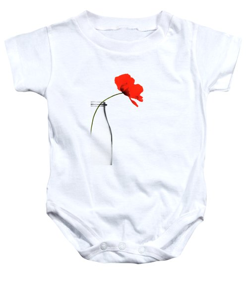 Poppy Red Baby Onesie