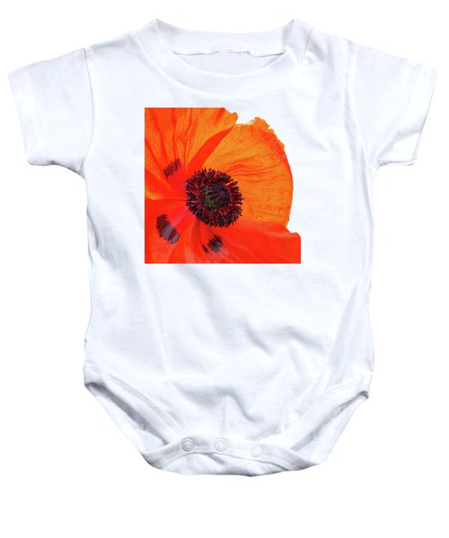Poppy With Raindrops 2 Baby Onesie