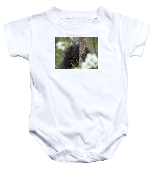 Porcupine Check-out Baby Onesie