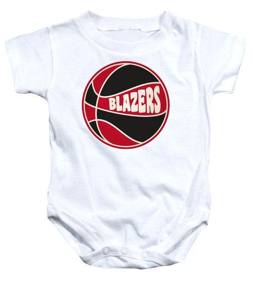 Portland Trail Blazers Retro Shirt Baby Onesie by Joe Hamilton