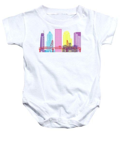 Portland V2 Skyline Pop Baby Onesie