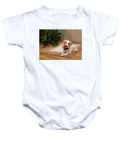 Portrait Of A Dog Baby Onesie