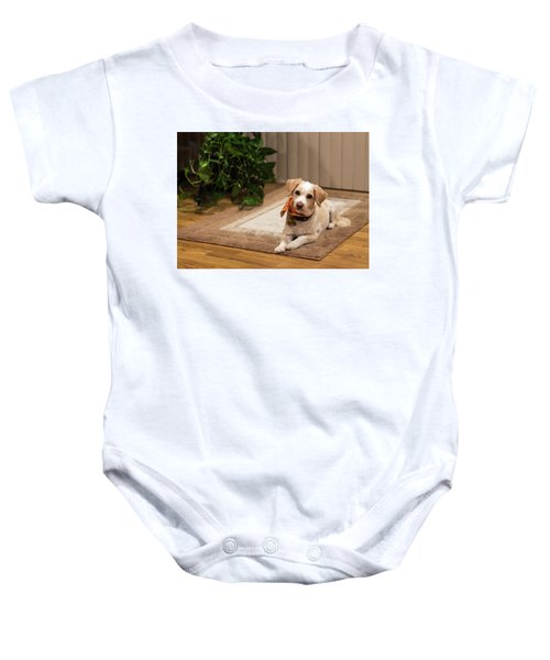 Portrait Of A Dog Baby Onesie