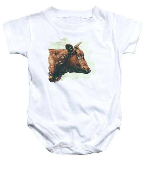Portrait Of Bess Baby Onesie by Katherine Smit