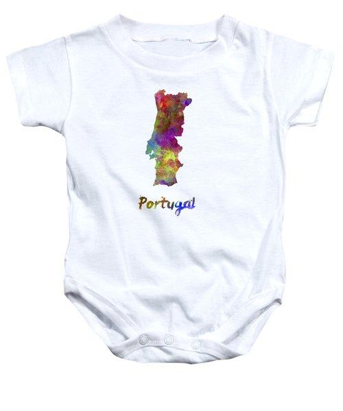 Portugal In Watercolor Baby Onesie