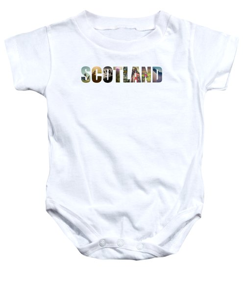 Postcard For Scotland Baby Onesie by Mr Doomits