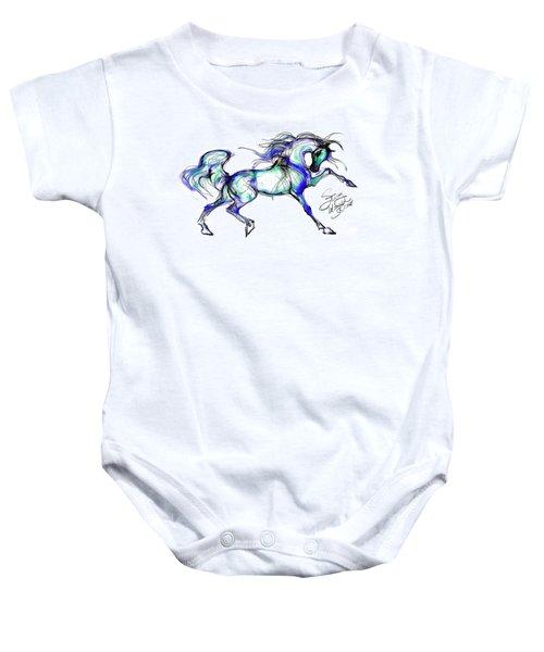 Prancing Arabian Horse Baby Onesie