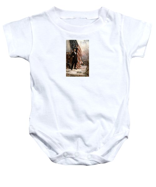 President Abraham Lincoln Giving A Speech Baby Onesie