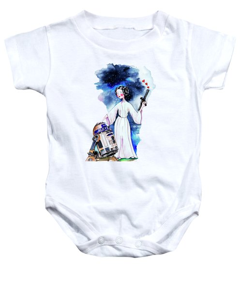 Princess Leia Illustration Baby Onesie by Isabel Salvador