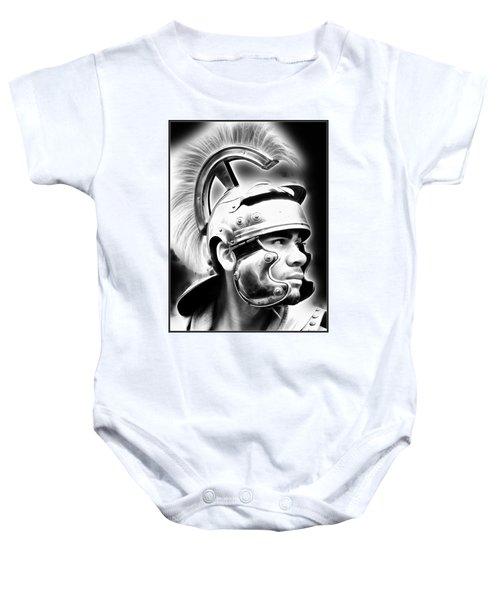 Profile Of A Trojan Hero Baby Onesie