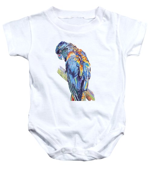 Psychedelic Parrot Baby Onesie by Lorraine Kelly