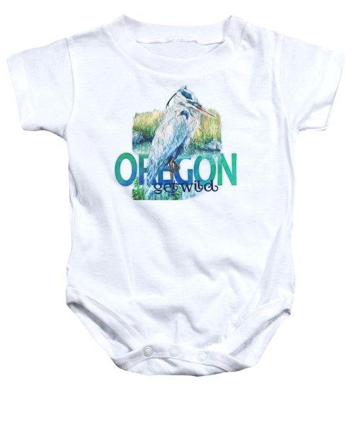 Puddletown Great Blue Heron Baby Onesie