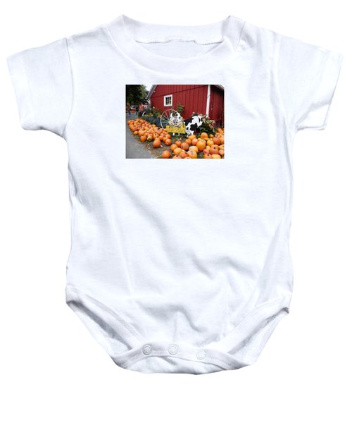 Pumpkin Farm Baby Onesie