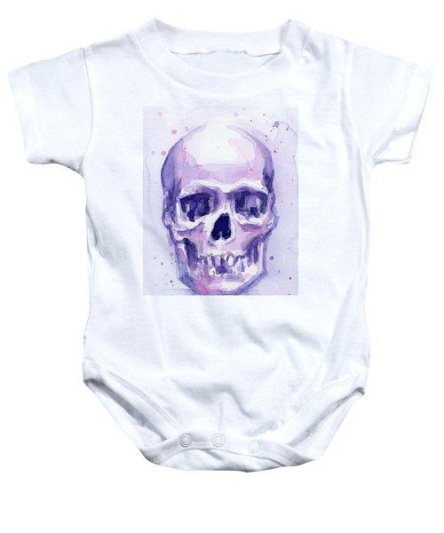 Purple Skull Baby Onesie