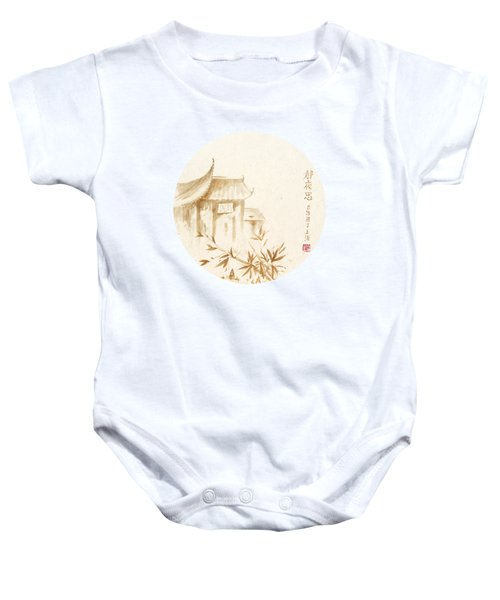 Quiet Night Thoughts - Round Baby Onesie