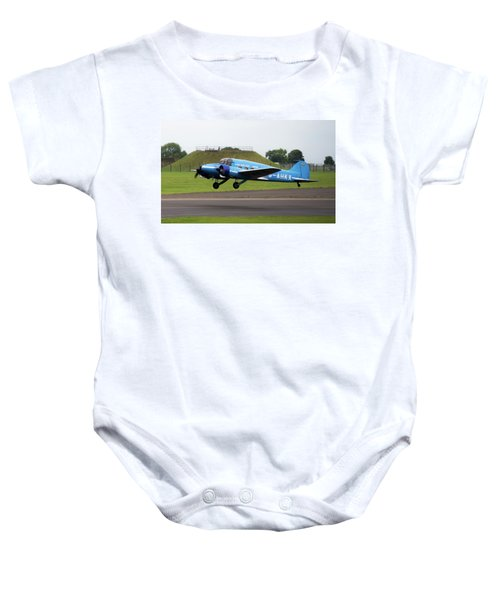 Raf Scampton 2017 - Avro Anson Nineteen During Take Off Baby Onesie