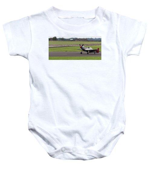 Raf Scampton 2017 - P-51 Mustang Landing Baby Onesie