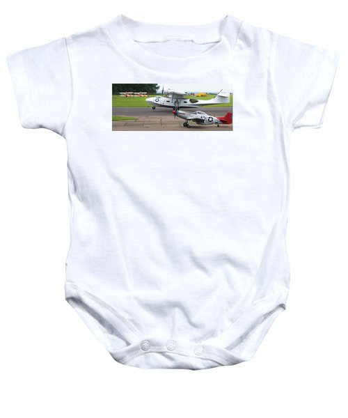 Raf Scampton 2017 - P-51 Mustang With Pby-5a Landing Baby Onesie