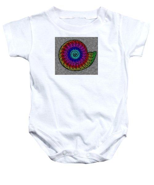 Rainbow Ammonite Baby Onesie