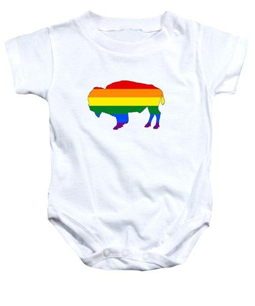 Rainbow Bison Baby Onesie