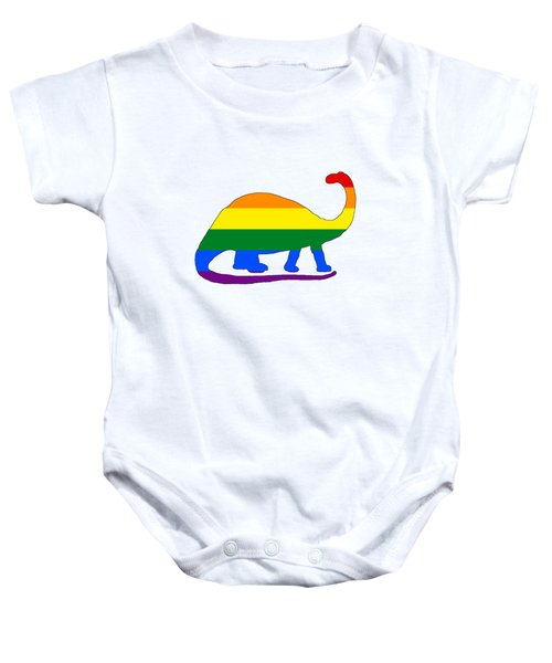 Rainbow Brontosaurus Baby Onesie