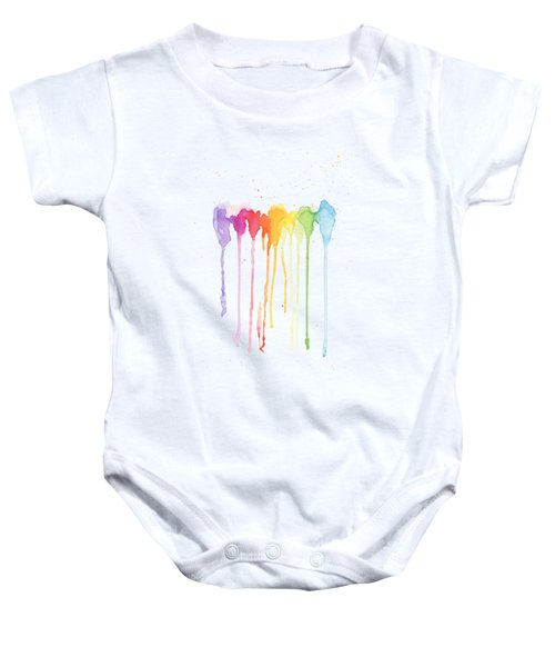 Rainbow Color Baby Onesie