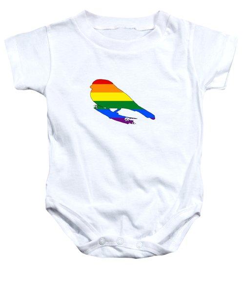 Rainbow Finch Baby Onesie by Mordax Furittus