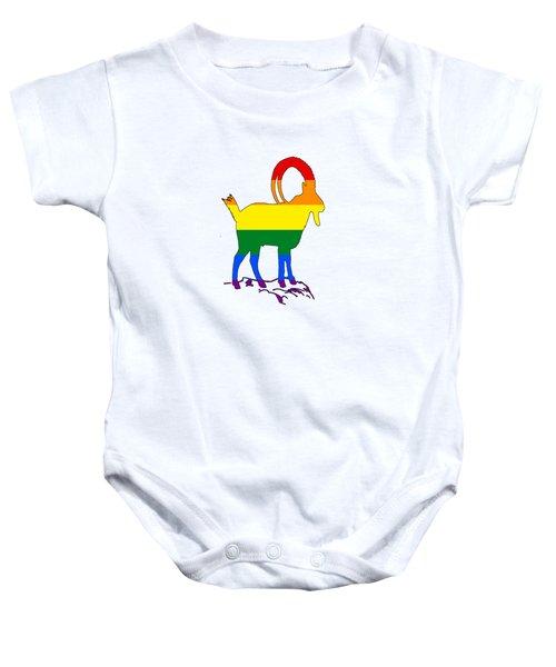 Rainbow Ibex Baby Onesie by Mordax Furittus