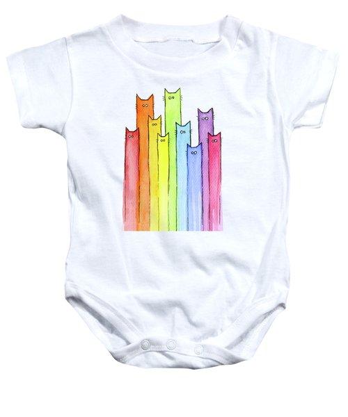 Rainbow Of Cats Baby Onesie