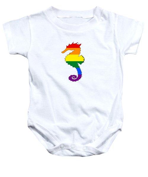 Rainbow Seahorse Baby Onesie by Mordax Furittus