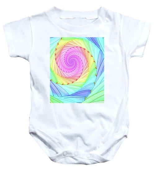 Rainbow Spiral Baby Onesie