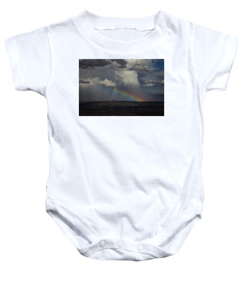 Rainbow Storm Over The Verde Valley Arizona Baby Onesie
