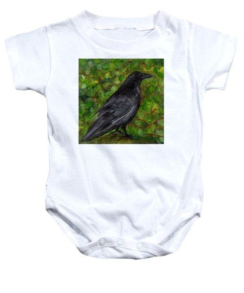 Raven In Wirevine Baby Onesie