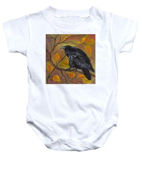 Raven On A Limb Baby Onesie