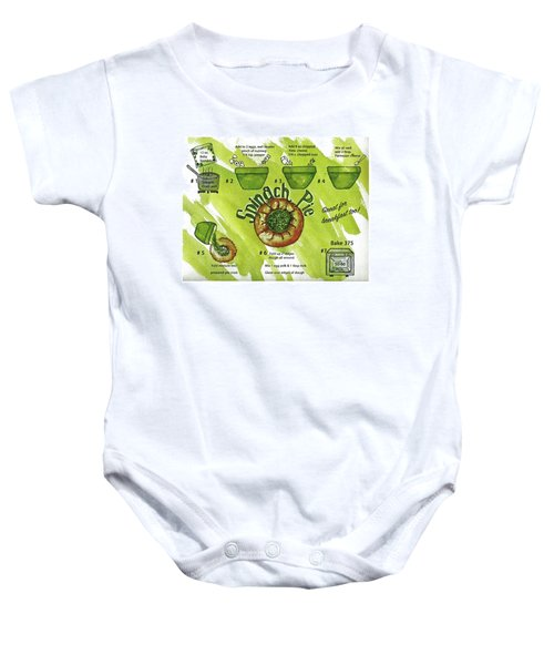 Recipe-spinach Pie Baby Onesie