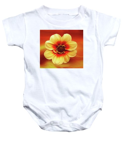 Red And Yellow Inspiration Baby Onesie