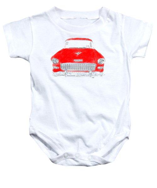 Red Chevy T-shirt Baby Onesie